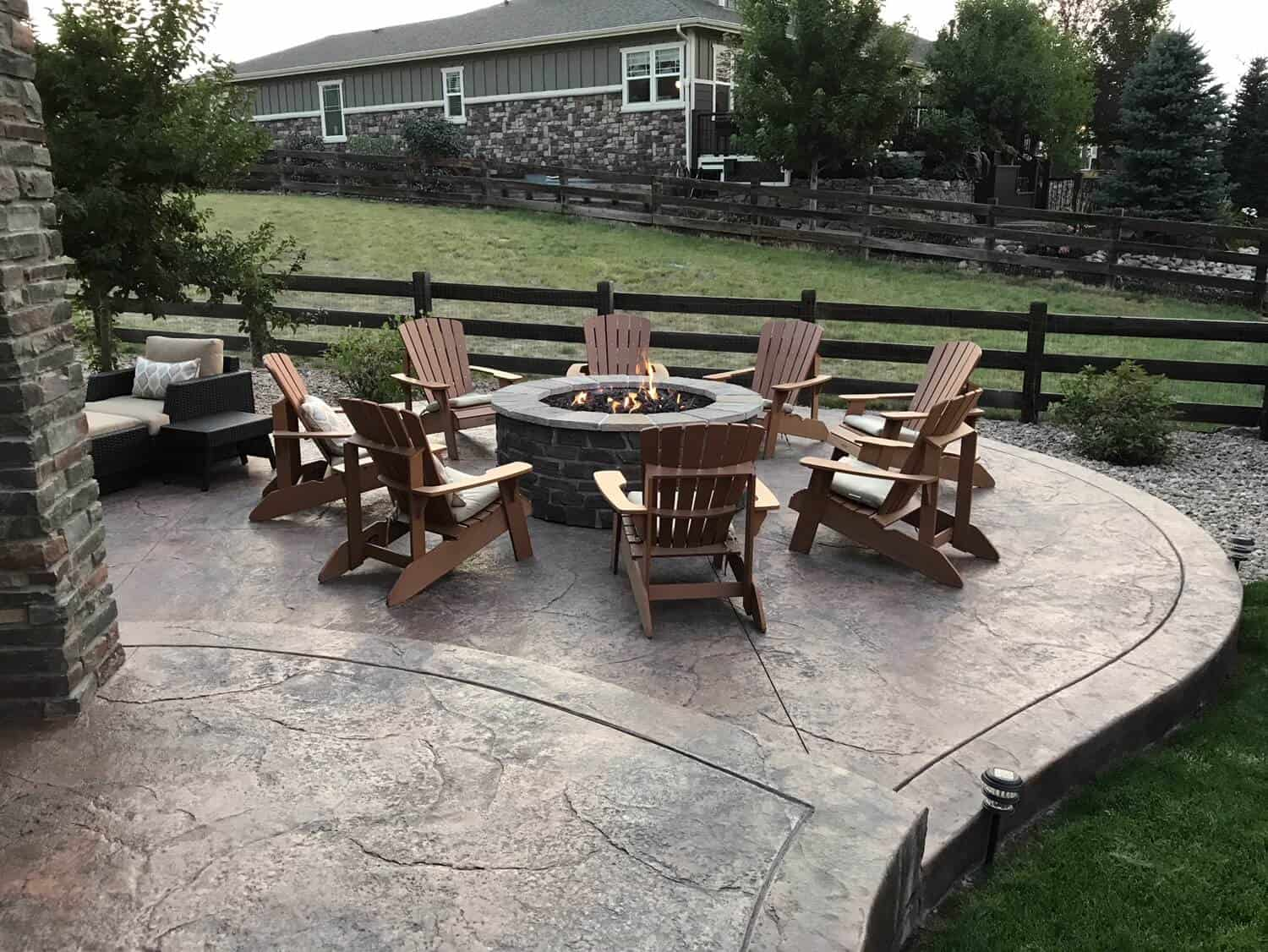 Fire Pit with Lounging Chairs