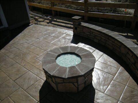Circular stone firepit 2