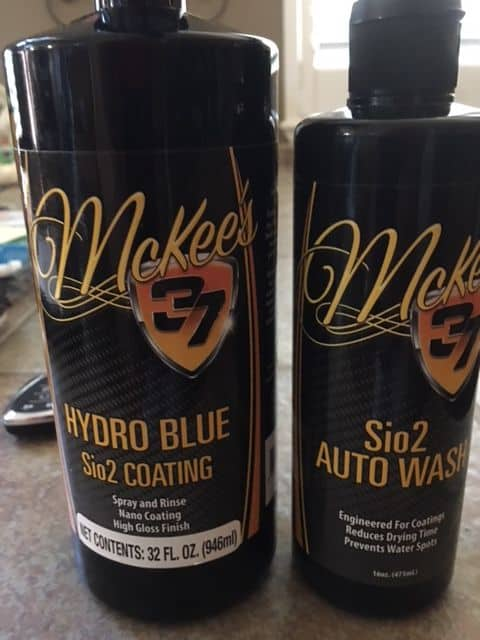 McKee's 37 Hydro Blue Sio2 Coating Bottle and Sio2 Auto Wash
