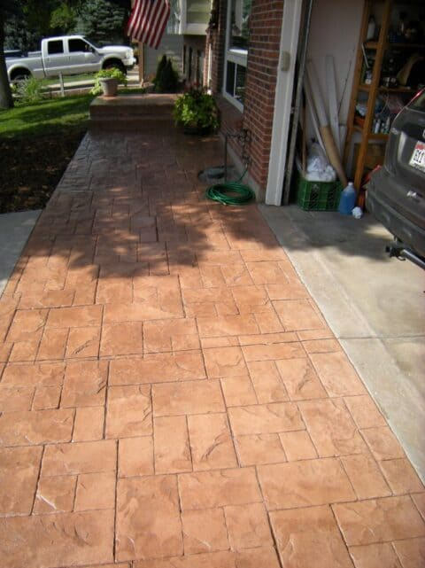 Front pathway- concrete