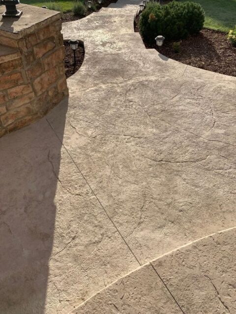 Front entry stone