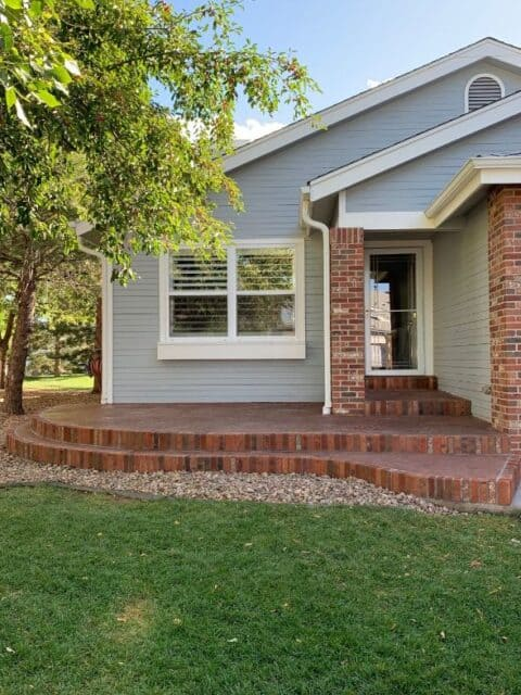 Front entry with brick accent border
