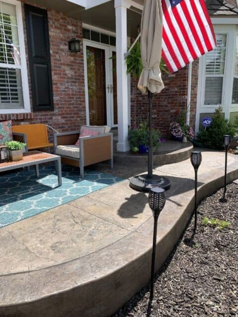 Wave stone deck and entrance way