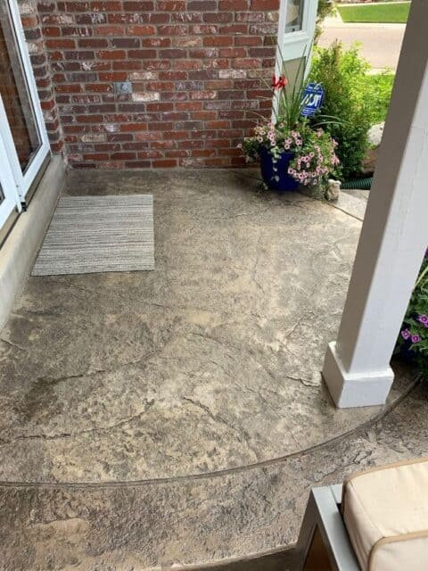 Semi circle stone outdoor entrance