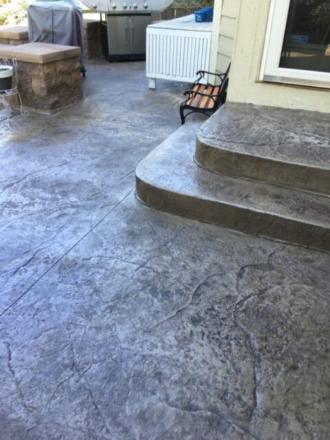two step concrete stairs
