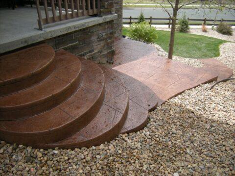 Concrete steps semi circular 2