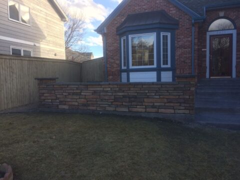 Exterior Stone Appearance multicolored wall